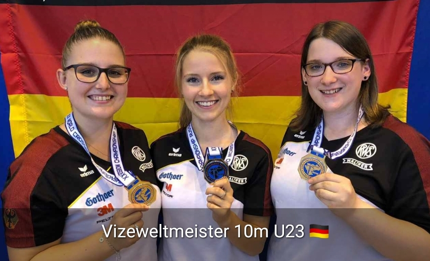Vizeweltmeistermannschaft U23 Armbrust 10m